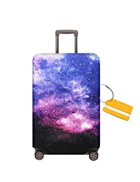 OrgaWise Luggage Cover Travel Suitcase Trolley Case Protective Cover for 22-28 inch Luggage+ Luggage Tag(L)