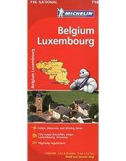 Michelin Belgium Luxembourg Map 716
