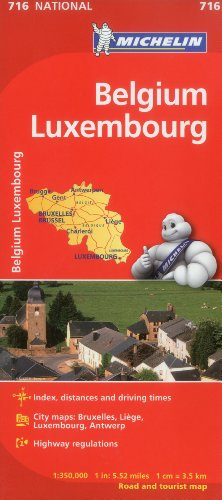 Belgium Luxembourg Maps 716 Michelin (Maps/Country (Michelin))