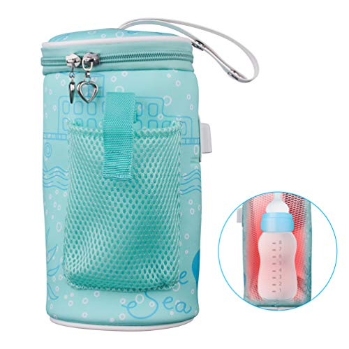 AOZBZ Baby Bottle Warmer Bag Portable USB Heating Intelligent Warm Breast Milk Insulated Tote Bag
