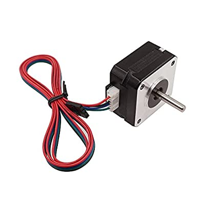 WINSINN Short Body Nema 17 Stepper Motor Bipolar Step For Titan Extruder 3D Printer CNC 4-lead 1.8 Deg 6V 1A Holding Torque 16N.cm/22.8oz.in with 1m Cable & Connector