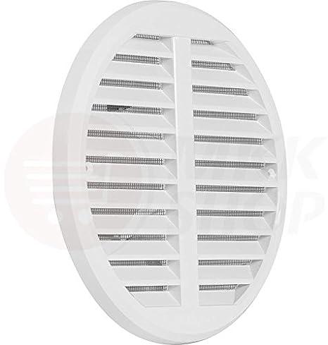 MKK L/üftungsgitter Garage ASA Kunststoff braun 175 x 250 mm T/ür Bad WC in vielen Gr/ö/ßen Zuluft Abluft Gitter mit Insektennetz wei/ß braun K/üche L/üfter Insektenschutz