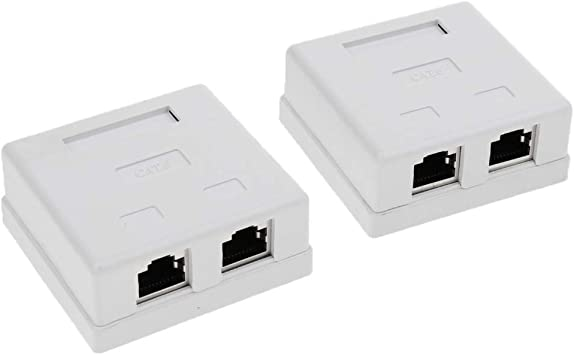 2X Cat6 Puerto Doble Montaje En Superficie Caja De Enchufe Rj45 ...