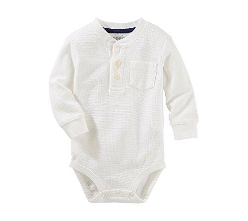 Price comparison product image OshKosh B'Gosh Baby Boys' Thermal Pocket Henley Bodysuit 12 Months