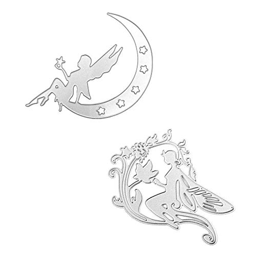 Satelliter Cutting Die Little Fairy Embossing Metal Mould Template Die Cuts for DIY Scrapbooking Photo Album Decorative Metal Stencils DIY Paper Cards Making