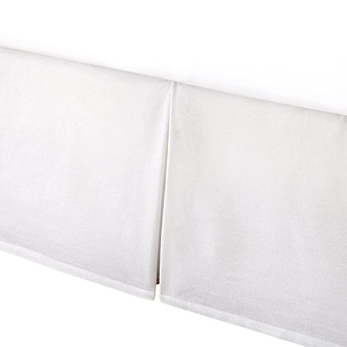 Levtex Home Box Pleated Dust Ruffle, Queen, White by Levtex home
