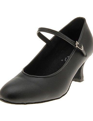 La mode moderne de belles femmes sandales en simili cuir de chaussures de danse moderne supérieur,Black,US7.5/EU38/UK5.5/CN38