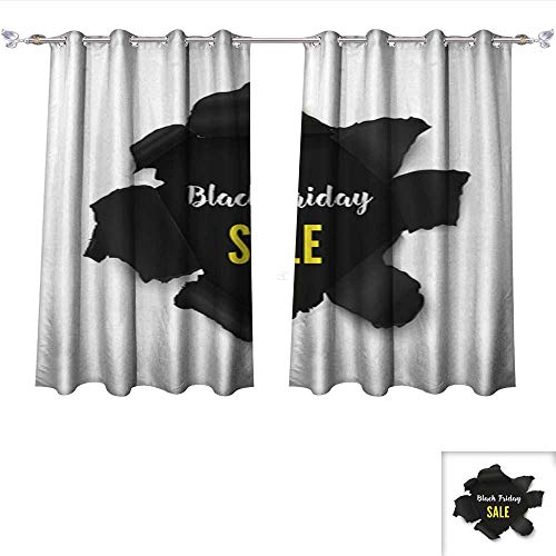 Decor Curtains Hole in Paper banner3 Adjustable Tie Up Shade Rod Pocket Curtain W55 x L45/Pair (Silk Tie Leigh)