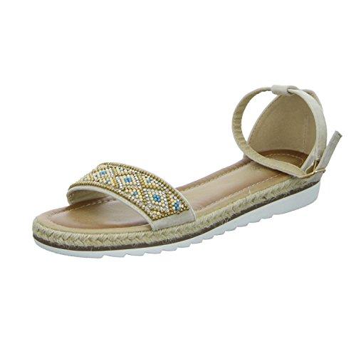 S&R R´s 6516-PL Damen Sandalette Beige (Beige)