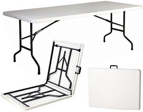 Mesa plegable de resina dura de 240 x 76 x 74 (altura) cm, para ...