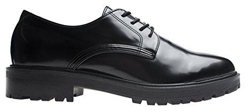 Agos Herenveter Casual Oxford-damesschoenen Zwart +1,5 Inch Hak