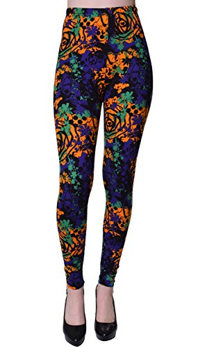 r Size Printed Brushed Ultra Soft Leggings (Bengal Splash) ()