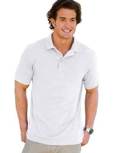 oft Piqué Polo White L (Cotton Mens Polo Shirt)