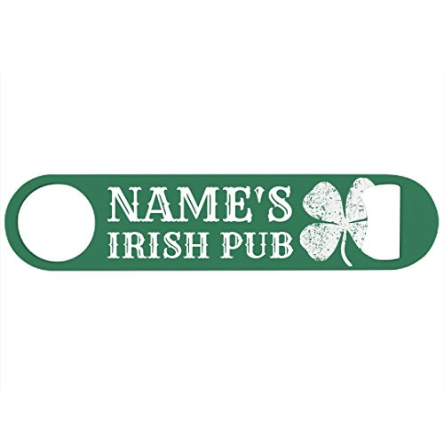 Green Custom Name Irish Pub: Bar Bottle ()