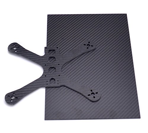Readytosky 3K Carbon Fiber Plate Sheet 200mm X 300mm X 2mm Thickness Pure Carbon Fiber Board for DIY Drone Frame Etc.