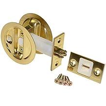 Johnson Hardware Brass Pocket Door Privacy Lock