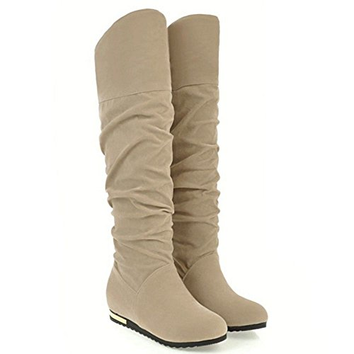 Fashion apricot TAOFFEN Boots Slouch Women 5gxqY8v