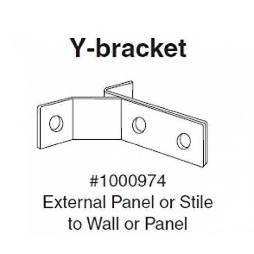 Bobrick 1000974 Stainless Steel Y Bracket for installation of Toilet (Bobrick Toilet Partitions)