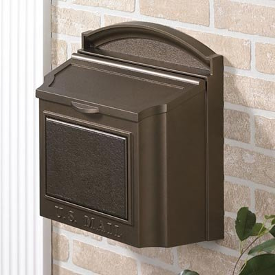 Whitehall Products 16138 Wall Mailbox, French Bronze ()