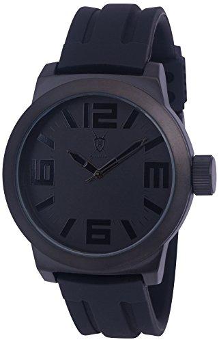 Konigswerk Men's Watch Black with Hands Silicone Band, Quartz Analog Waterproof Wrist Watch Luxury Sports Casual...