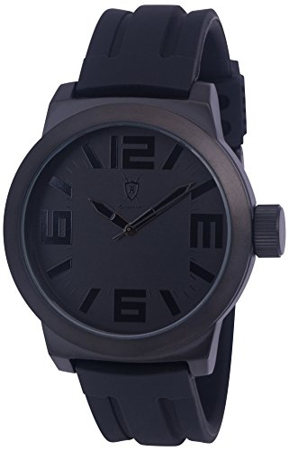Konigswerk Mens Watch Black Hands,Silicone Band, Dial and Case Quartz (Dial Black Silicone)