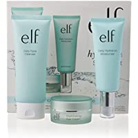 e.l.f. Hello, Hydration 3-Piece Starter Set with Cleanser, Moisturizer, and Eye Cream
