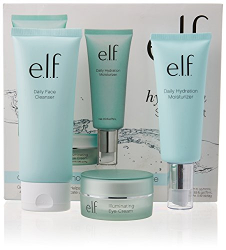 e.l.f. Cosmetics Skincare Starter Kit, Cleanse, Nourish and Moisturize Skin with Three Hydrating Products