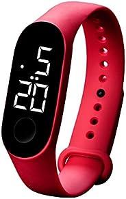 WUAI LED Electronic Sports Sensor Electronic Digital Sports Watches Fashion Men and Women Watches