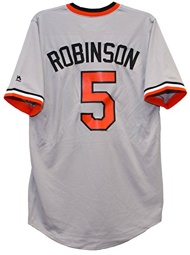 Majestic Brooks Robinson Baltimore Orioles Cooperstown Cool Base Jersey ()