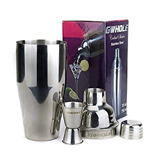 GWhole Shaker per cocktail da 750 ml con filtro integrato, un misuratore doppio e ricette (e-book - lingua italiana non… 3 spesavip