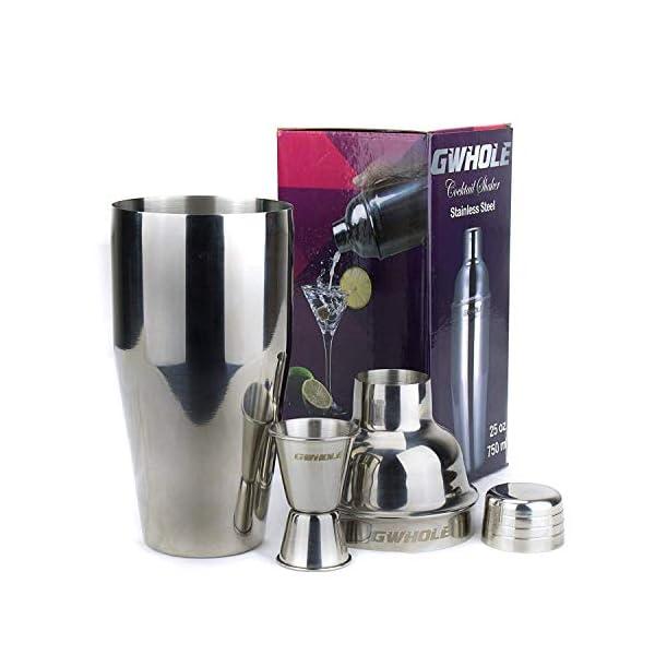GWhole Shaker per cocktail da 750 ml con filtro integrato, un misuratore doppio e ricette (e-book - lingua italiana non… 1 spesavip