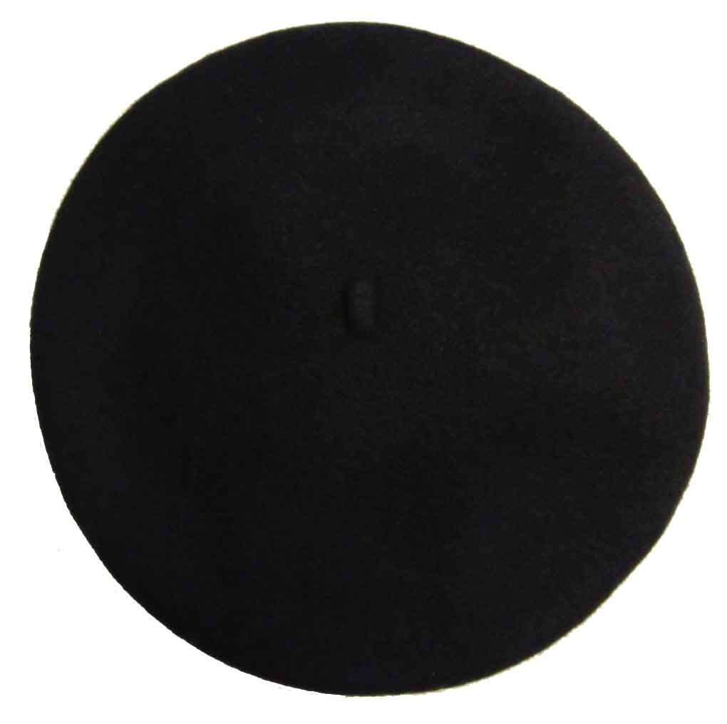 Vieux Carre Traditional French Wool Beret Black