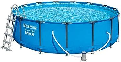 Bestway 56438 Steel ProMAX Pool Ø457 x 122 cm, Stahlrahmenpool-Set ...