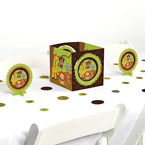 Big Dot of Happiness Funfari - Fun Safari Jungle - Baby Shower or Birthday Party Centerpiece & Table Decoration Kit ()