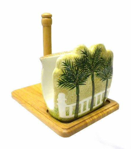 Tropical Palm Tree Paper Towel and Napkin Holder - Palm Tree Paper Towel Holder