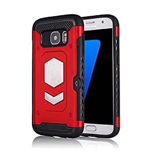 RaG&SaK Water Proof Magnetic Mount armour Case for Samsung S7- Red