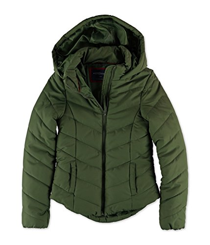 Aeropostale Womens Hooded Puffer Jacket 285 XS - Juniors (Aeropostale Puffer Jacket)