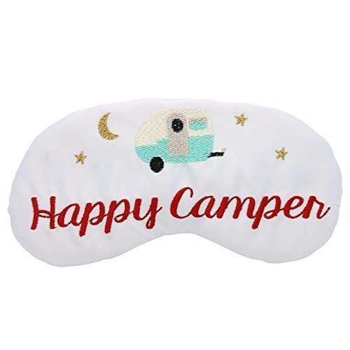 Happy Camper Sleep Mask made our CampingForFoodies hand-selected list of 100+ Camping Stocking Stuffers For RV And Tent Campers!