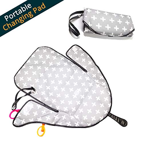 Etube Portable Changing Pad Station Lightweight Travel Station Kit for Baby Diapering Waterproof Change Mat with Clutch (ColorA)