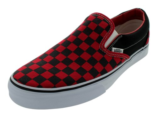 4549ea0c80c4 Vans Unisex Adult Checkerboard Slip-On Black Formula One Red Check  VN000EYE36M Mens 11.5