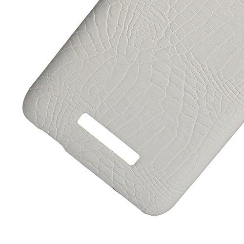 YHUISEN Patrón de piel de cocodrilo clásico de lujo [ultra delgado] cuero de la PU Anti-rasca la cubierta protectora de la caja dura de la PC para Asus Zenfone 3 Max ZC520TL (5.2 pulgadas) ( Color : P White