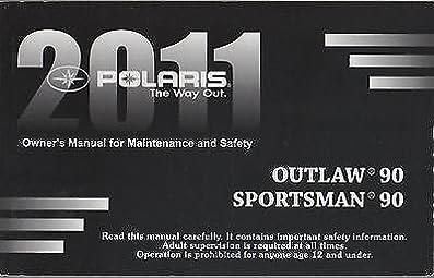 2011 polaris atv outlaw 90 sportsman 90 owners manual rh amazon com polaris sportsman owners manual polaris sportsman 800 owners manual