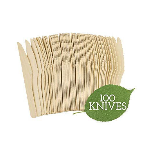 Galashield Disposable Wooden Knives - 100 Piece - 6.3