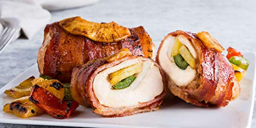 Stuffed Chicken Breasts - OvenGrillers Bacon Wrapped Hawaiian Stuffed Chicken Breast, Frozen (16 Piece)