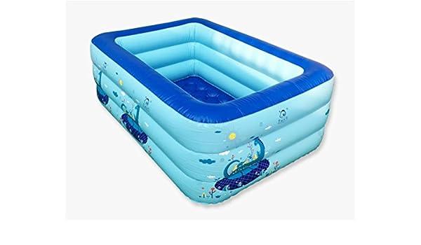 FACAI888 Niños piscina inflable de la bola del océano Piscina más gruesa del bebé Niños infantiles de la historieta de la bañera Azul: Amazon.es: Hogar