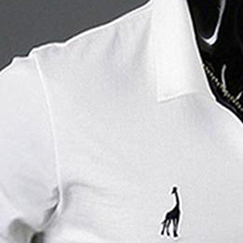 CALOFE ポロシャツ メンズ 半袖 長袖 ゴルフ ポロシャツ ゴルフウェア シャツ ポロシャツ 半袖 ビジネス通気性 吸汗速乾 春夏季対応 トップス 胸刺繍 ニット 長袖 作業着 夏 無地 スポーツウェア ゴルフウェア