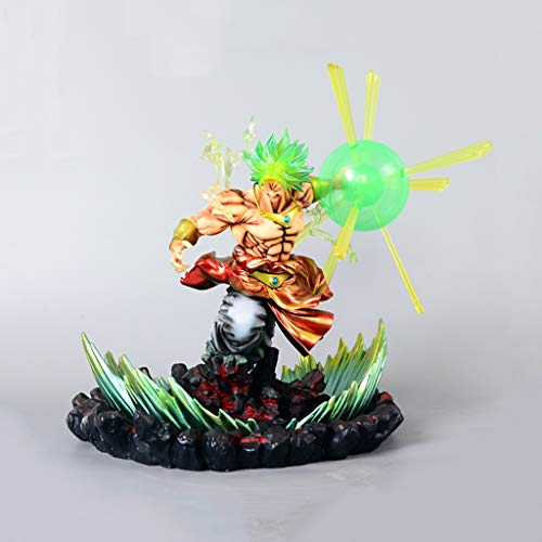 Model Anime Resin - HappyL Dragon Ball Anime Statue Repainted Super Saiyan Broli Toy Model Resin Base Exquisite Anime Decoration Crafts Collection -13.3in Toy Statue