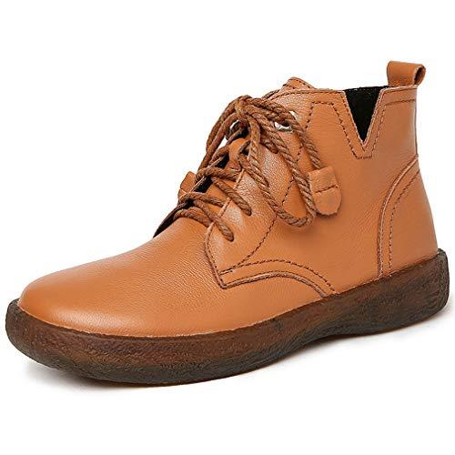 Plataforma Cuero Yan Confort Antideslizante Para 38 De Al Madre Libre Inferior Zapatos brown Caminar Desnudas Aire Oxford Botas Mujer Parte nvrXpqxIwr