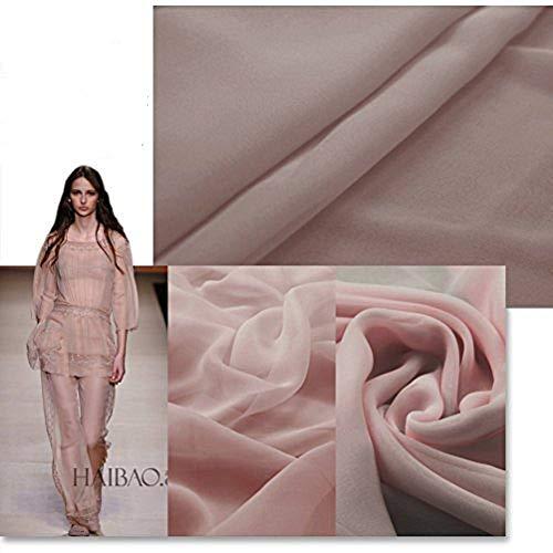 F.d.silk Deep Pink 100% Pure Silk Chiffon Fabric By the Yard, 48 Colors, Deep Pink Ch-020 (Silk Chiffon Fabric)