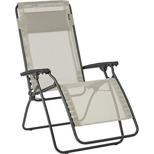 Lafuma R Clip Lounge Chair Basalt/Seigle, One Size (Patio Furniture Lafuma)